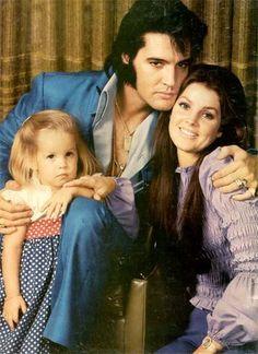 Elvis, Priscilla & Lisa Marie