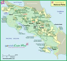 Costa Rica National Park Map