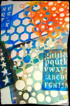 Art by Steffi Moellers: Printing with the Gelli Plate!!