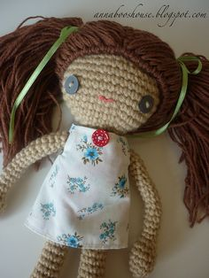 Crochet doll CAL pattern/ Good photo tutorial on how to make the hair.