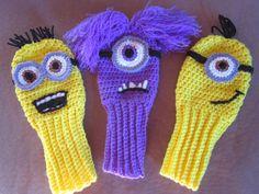 New Hand crocheted minion inspired golf club door BarbsCustomCrafts