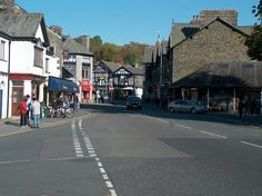 Windermere Village Lake District Cumbria England