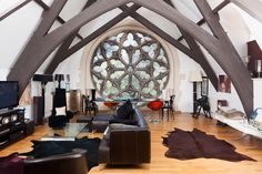 This converted cathedral space: | The 30 Most Gorgeous Living Spaces In The World