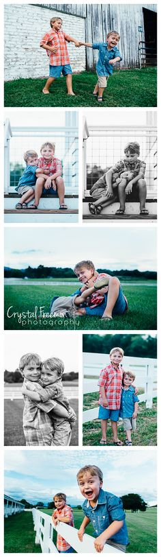 Photo session ideas for two active young brothers.  Childhood Photography.  Outdoor Lifestyle session with Crystal Freemon Photography