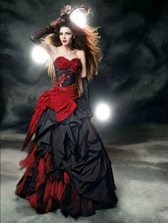 Alternative fashion gothic wedding dresses for your big day.DevilNight offers a wide range of black wedding dresses,red wedding dresses,blue wedding dresses and plus more for your to choose from. Black Red Wedding, Colored Wedding Dresses, Halloween Wedding Dresses, Halloween Weddings, Halloween Party, Halloween Dress, Bridal Gowns, Wedding Gowns, Lace Wedding