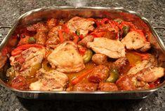 Chicken Marengo, Chicken Scarpariello, Chicken Confit, Braised Chicken, Recipes With Chicken And Peppers, Chicken Stuffed Peppers, Italian Dishes, Italian Recipes, Italian Cooking