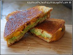 Avocado Grilled Cheese.. Yes please  Lots of good fat, well I will only eat 1/2 at a time.  Can't wait to try it.