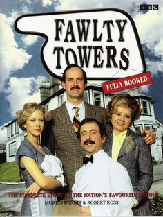 Fawlty Towers The series is set in Fawlty Towers, a fictional hotel in the seaside town of Torquay. The plots centre around tense, rude and put-upon owner Basil Fawlty (Cleese), his bossy wife Sybil (Prunella Scales), a comparatively normal chambermaid Polly (Booth), and hapless Spanish waiter Manuel (Andrew Sachs) and their attempts to run the hotel amidst farcical situations and an array of demanding and eccentric guests.