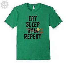 Men's Eat Sleep Gym (Lol No) Repeat T-Shirt Medium Kelly Green (*Amazon Partner-Link)
