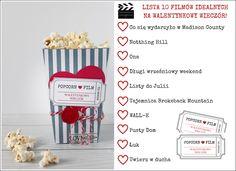 Valentine's day; cinema; popcorn box; printables;