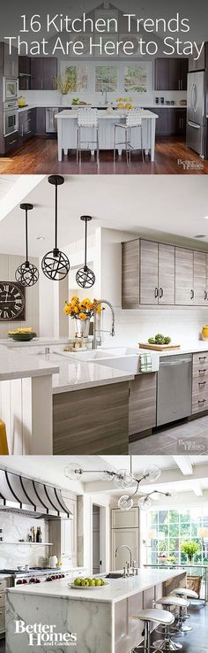 Here are the latest kitchen trends of 2016 that will continue to be popular in the years to come. This roundup includes our favorite current trends and the newest kitchen trends we're seeing. You don't have to avoid these trendy ideas because minimal cabinetry and quartz counters are here to stay.
