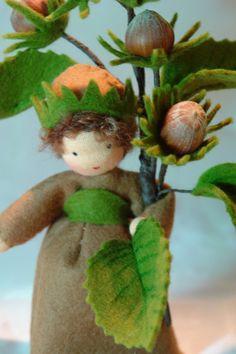 Hazelnut Flower Child Waldorf Inspired von KatjasFlowerfairys