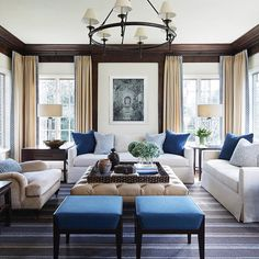 Excited to share a photo of a recently transformed Family Room in Winnetka. Style and comfort with @taipingcarpets @samuelandsons @hollandandsherryinteriors and @circalighting #GPDesign #interiordesign #familyroom #winnetka