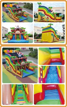 AQ09224 (5*7.5*6M   16.40'*24.60'*19.69') AOQI attractive huge inflatable slides,inflatable jumping slides, they are on sale now.