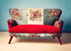 Gobelin Spring Rose Sofa design inspiration on Fab. Decor, Sofa Makeover, Furniture, Funky Furniture, Sofa Design, Fusion Sofa, Upholstery, Furnishings, Furniture Design