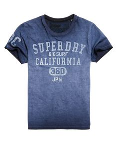 Superdry Camiseta Big Surf Azul