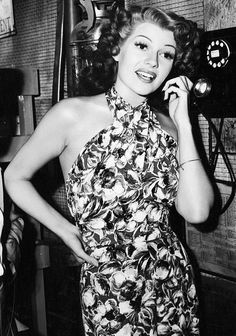 """theritahaywortharchive: """""""" Rita Hayworth on the set of You Were Never Lovelier, 1942 """" """""""