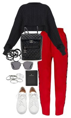 """""""Untitled #4337"""" by theeuropeancloset on Polyvore featuring Loeffler Randall, Chanel, H&M, FOSSIL and Kendra Scott"""