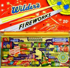 Vintage Wilders Fireworks selection box via Firework Museum