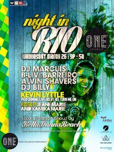 WMC2014 Update!!! 5ta. fecha confirmada para Miami! Miércoles 26 en el ONE LOUNGE de Collins Ave. durante el Fashion Show de Bella Donna Beach / 2 hours set! // Night In Rio //Darkroom B-Liv & Alyosha Barreiro // I F*&% <3 Miami !!