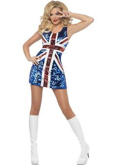 Union Jack Sparkling All That Glitters Rule Britannia Dress. Celebrate They Royal Wedding In Style With This Gorgeous Red White And Blue Union Jack Glitter Dress. Queen Halloween Costumes, Girl Costumes, Adult Costumes, Costumes For Women, Adult Halloween, Spirit Halloween, Female Costumes, White Costumes, Funny Costumes