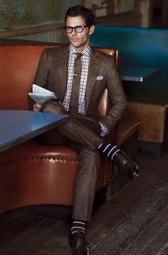 ブラウンツイードスーツの着こなし   スーツスタイルWEB