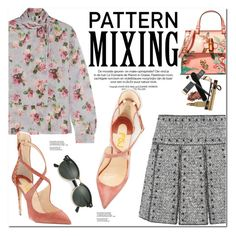"""""""Head-to-Toe Pattern Mixing"""" by oshint ❤ liked on Polyvore featuring Valentino, Topshop Unique, Gucci, Ray-Ban, shoes and fsjshoes"""