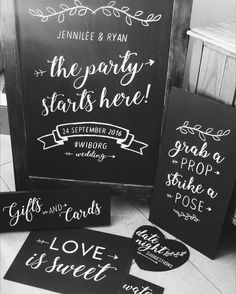Bachelorette Party / Bridal Shower Chalkboard Signage   #chalkboard #weddingsignage #bridalshower #capetownwedding #photobooth