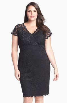 Marina Lace Sheath Dress (Plus Size) available at #Nordstrom