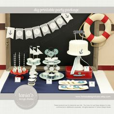 Nautical Baptism Printable Party Package by tania's design studio on Etsy, 38,25 $ CAD