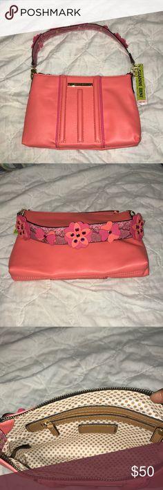 Gianni Bini Embellished Strap Bagette Gianni Bini Embellished Strap Bagette in Coral color. Gianni Bini Bags Shoulder Bags