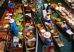 bankok images - floating market