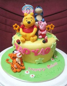 Mom & Daughter Cakes: Winnie The Pooh And Friends Cake For 2 Years Old