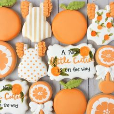 A little cutie is on the way! Baby Cookies, Baby Shower Cookies, Cut Out Cookies, Cute Cookies, Sugar Cookies, Peach Cookies, Shower Cake, Peach Baby Shower, Girl Shower