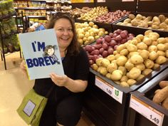 "From Laurie Cheung: ""I'm entertaining the potatoes. They are no longer bored!"" :-D"