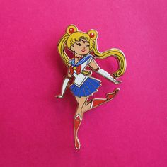 This is now in nickel.  Sailor Moon fans rejoice! Live out your dreams as a sailor scout. Fight evil by moonlight and win love by daylight in style.  --------------------------  Limited Edition Pin Collectors Item Approximately 2 x 1.11 Hard Enamel, Nickel Lapel Pins With Screen-printed details Rubber Clutches Comes with a holographic backing card