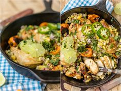 Make this SKINNY ONE PAN CARIBBEAN JERK CHICKEN SKILLET in just 15 minutes…