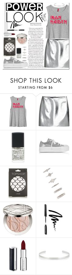 """#232 - Grey Power Look"" by izzaidaniia ❤ liked on Polyvore featuring H&M, Lane Bryant, Converse, Topshop, Forever 21, Christian Dior, Bobbi Brown Cosmetics, Givenchy and Jennifer Fisher"