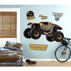 Looking for decor for the monster truck obsessed boys... great price compared to some!