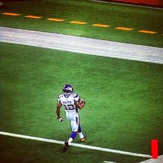 MN Vikings Percy Harvins scores 105 kickoff return on opening drive against the Lions in honor of real referees return.  Took 12 seconds. :)