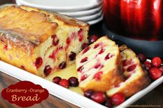 Melissa's Southern Style Kitchen: Cranberry-Orange Yogurt Bread