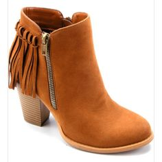 Kimberly Bootie – Bloom and Snow Boutique Fringe Booties 55f9da60cb58