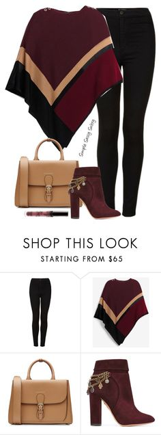 """""""Poncho"""" by simplesassysultry on Polyvore featuring Topshop, White House Black Market, Burberry, Aquazzura and Kylie Cosmetics"""
