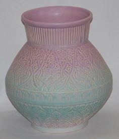 "Weller Lavonia pastel Glazed Vase. 10"" tall. $150 Just Art Pottery 2011."