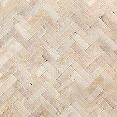 Honey Onyx Tumbled Herringbone Natural Stone Mosaic - contemporary - kitchen tile - chicago - Stone City - Kitchen & Bath Design Center