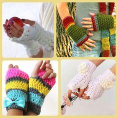 Örgü eldiven, parmaksız eldiven, kadın modası