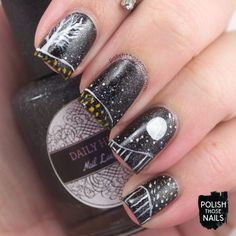 Over The Indie Moon // Polish Those Nails // Challenge Your Nail Art - Halloween // Inspired by Natasha Newton // cult nails - daily hues nail lacquer - indie polish
