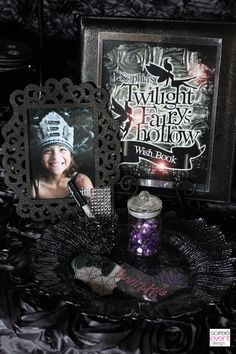 """Twilight Fairy"" Book of Wishes party activity as seen in ""Twilight Fairy's Hollow"" party designed by Soiree Event Design"
