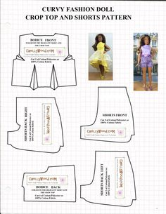 Curvy Barbie outfit pattern from Lyubov Gonchar's photos