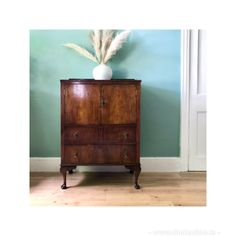 This beautiful antique 1930's cabinet has a gorgeous patina but would also be beautiful painted. With two drawers and a flexible storage space. It could make a fantastic drinks cabinet as it comes with its own key. Dimensions are 107cms height x 77cms width x 46cms depth. . DM for more details. Drinks Cabinet, Antique Cabinets, Find Furniture, Storage Spaces, Drawers, Things To Come, Key, Antiques, Table